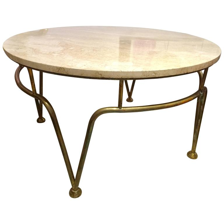1940 French Style Brass Coffee Table For Sale At 1stdibs