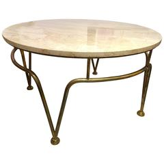 1940 French Style Brass Coffee Table