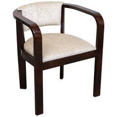 Art Deco French Armchair in Walnut