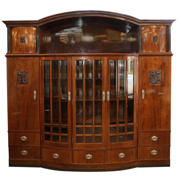 Hungarian Credenza or Bookcase in Palisander Wood from Art Deco period For Sale