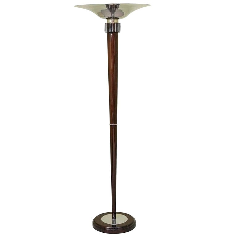 Art Deco French Torchiere/Floor Lamp