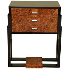 Art Deco French Side Tables in Walnut Veneer