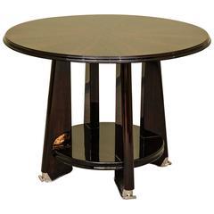 Art Deco Side Table in Macassar