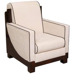 French Art Deco Armchair in Palisander