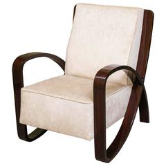 Pay of Art Deco Hungarian Armchairs in Walnut
