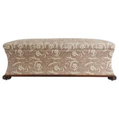 Large Upholstered Hassock Storage Bench or Ottoman, England, circa 1850