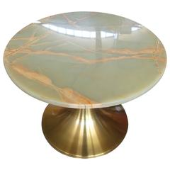 Angelo Mangiarotti for Bernini, Italian Mid-Century Round Coffee Table , 1961