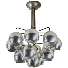 Twelve-Shade Chandelier by Angelo Mangiarotti for Candle