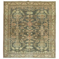 Green Malayer Square Antique Rug