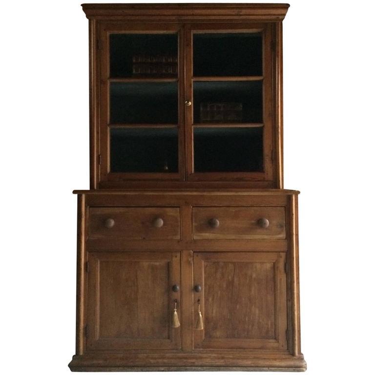 Fabulous Antique Pine Bookcase Dresser Display Cabinet Victorian, 19th  Century 1 - Fabulous Antique Pine Bookcase Dresser Display Cabinet Victorian