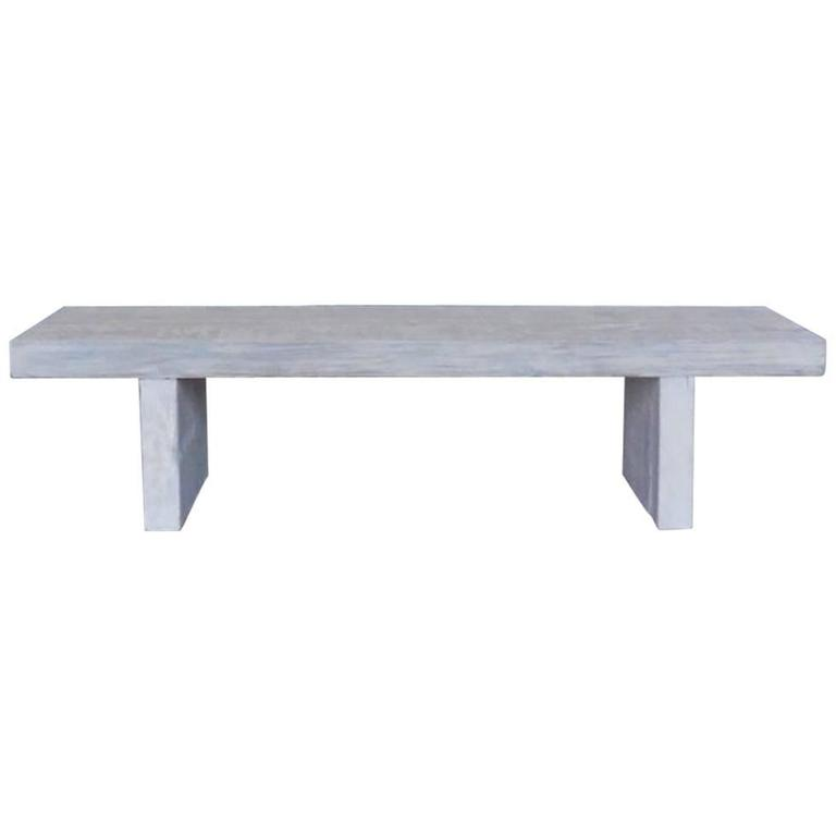 Reclaimed Wood Bench or Coffee Table in White Wash Finish by Dos Gallos Studio