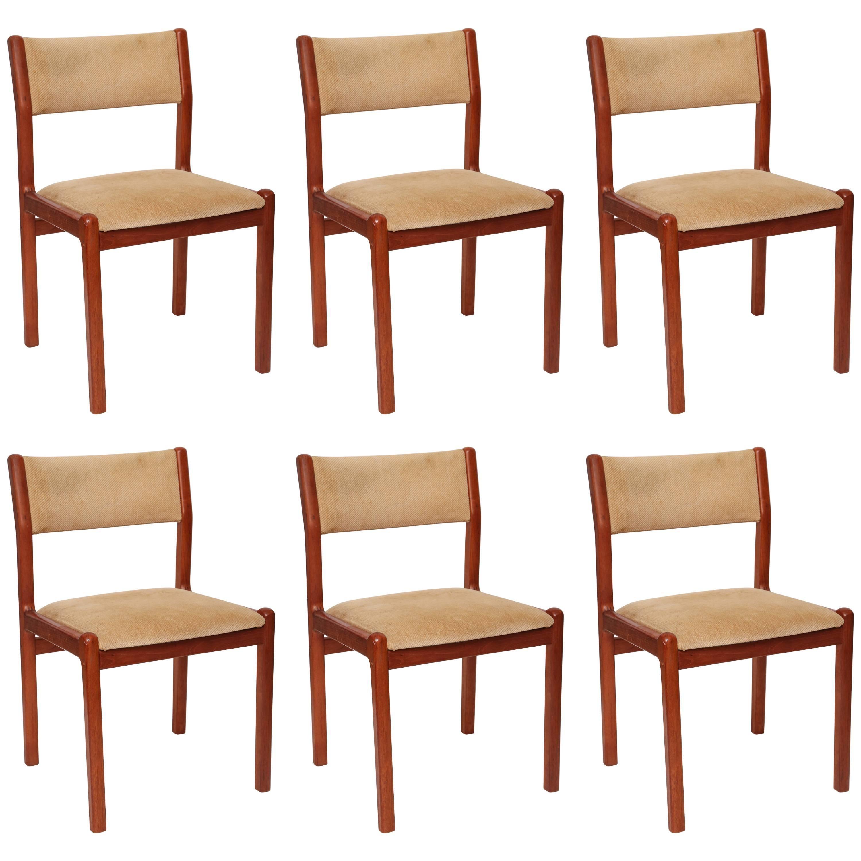 Set of Six J.L. Moller Teak Dining Chairs, 1960s, Denmark