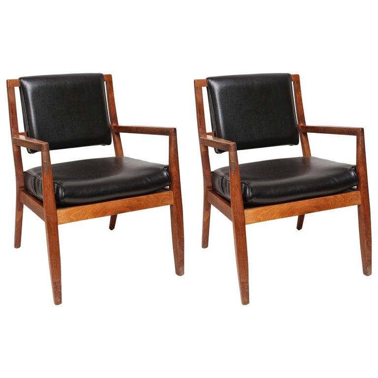 Pair of Mid-Century Modern Danish Teak Armchairs, 1960s, Denmark For Sale