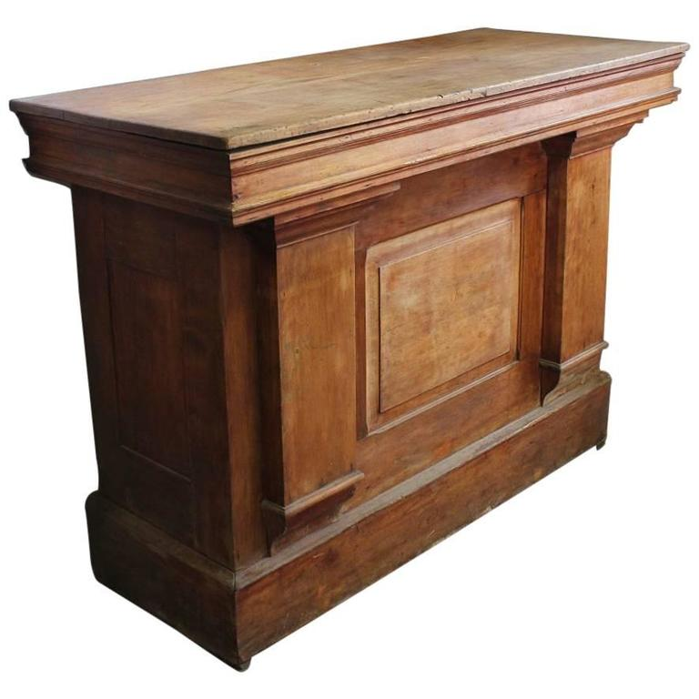 Wooden Candy Table ~ Antique candy store wood counter or front bar for sale at
