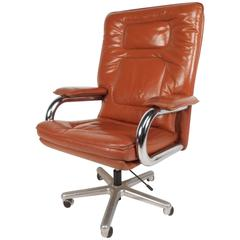 Large Mid-Century Modern Guido Faleschini Desk Chair by Mariani for Pace