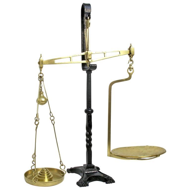 18th Century Brass Balance Scale