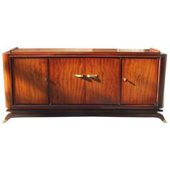 Fine French Art Deco Mahogany Sideboard or Buffet Jules Leleu Style, circa 1930