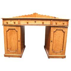English Victorian Maple Corner Desk