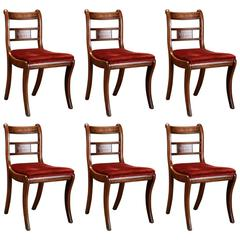 Set of Six English Regency Mahogany Chairs