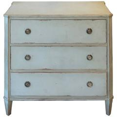 19th Century Regency Style Swedish Painted Chest of Drawers