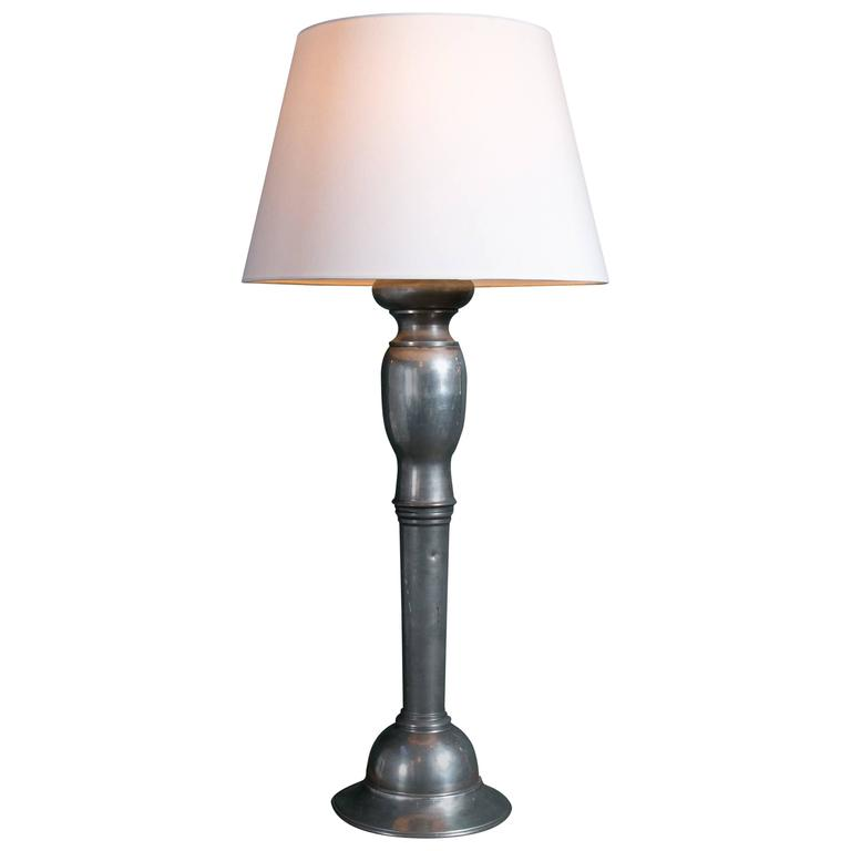 Vintage Pewter Table Lamp At 1stdibs