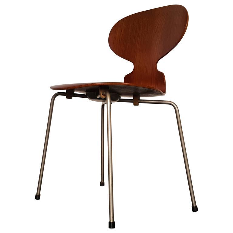 model 3100 39 ant 39 chair by arne jacobsen for fritz hansen 1952 at 1stdibs. Black Bedroom Furniture Sets. Home Design Ideas