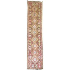 Vintage Anatolian Runner in Pink