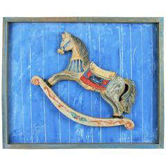 Folk Art Painting or Carving-Rocking Horse