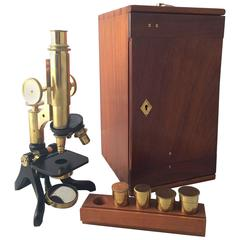 Compound Microscope with Box and Key by Henry Crouch of London, No.4016