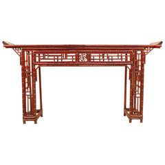 Fine Bamboo Console Table