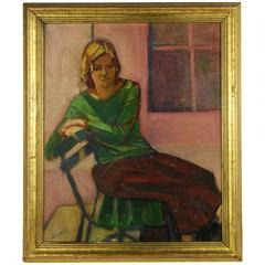 Pensive Woman Painting