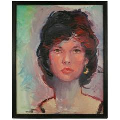 French Woman Portrait Painting