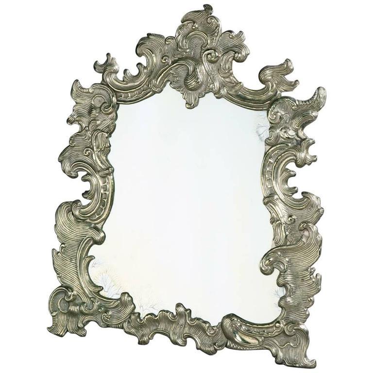 Silver mirror in the rococo taste for sale at 1stdibs for Silver mirrors for sale