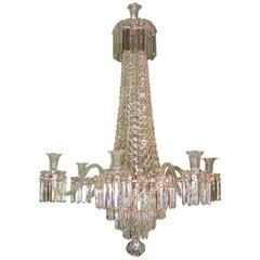 Fine English Mid-19th Century Cut Glass Chandelier