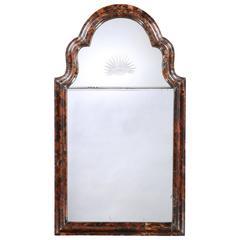 Late 19th Century Tortoiseshell Veneered Mirror