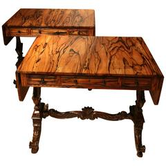 Important Pair of Coromandel Wood Sofa Tables Ceylon, circa 1830