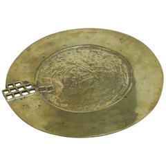 Brutalist Brass Platter