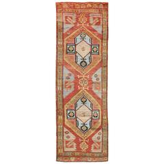 Gallery Turkish Oushak Rug with Vibrant Tribal and Contemporary Design