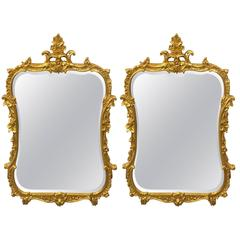 Pair of Chippendale Fashioned Console Mirrors by Friedman Bros