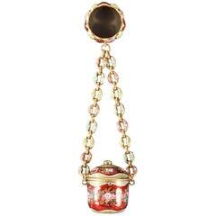 18th Century Gold and Enamel Vinaigrette