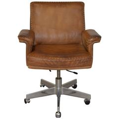 Vintage De Sede DS 35 Executive Swivel Armchair, 1960s