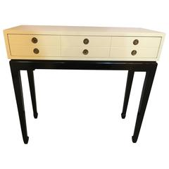 Tommi Parzinger Style Hollywood Regency Fashioned Console or Sofa Table