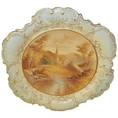 Mid-19th Century Hand-Painted Porcelain Plate