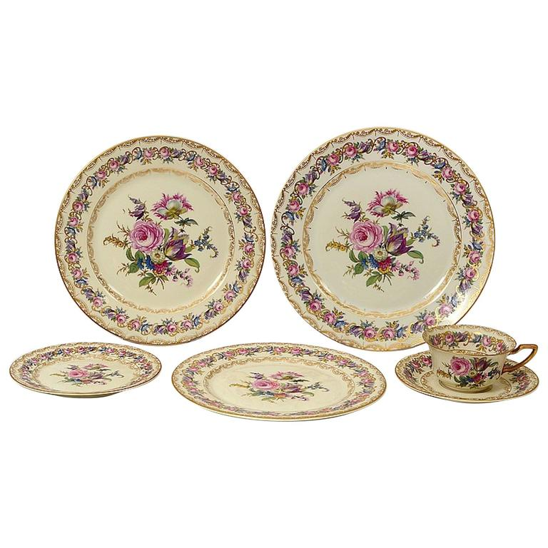 Rosenthal Porcelain Sixty-Four Piece Part Dinner Service Vienna Pattern