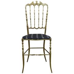 1950s Chiavari Brass Ballroom Chair