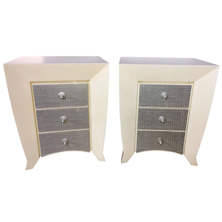Pair Of Dakota Jackson End Tables Or Nightstands For Sale At 1stdibs