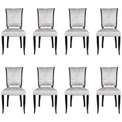 Set of Eight French 1940s Dining Chairs