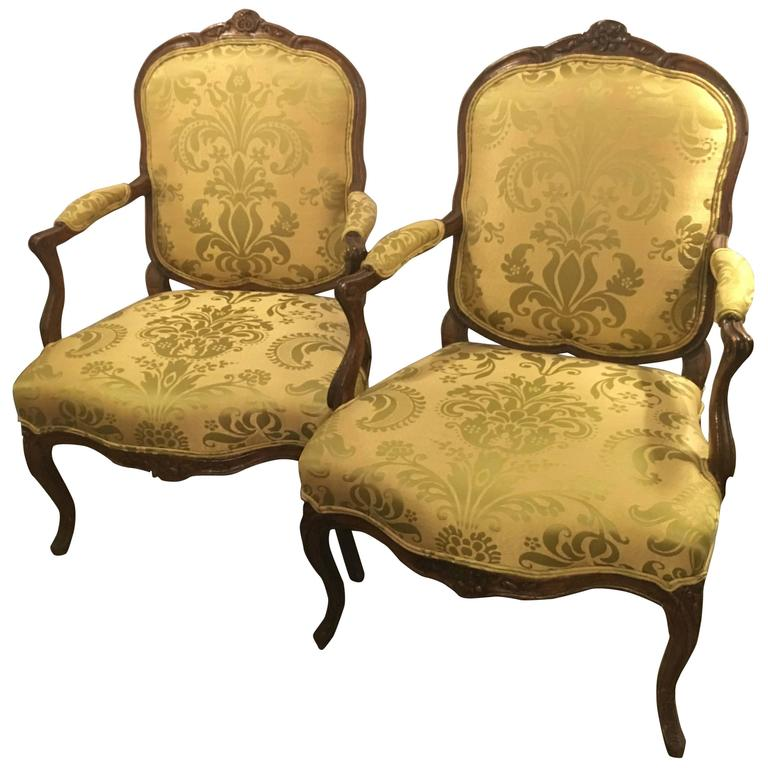 Pair of louis xv style fauteuils for sale at 1stdibs - Fauteuil style louis xv ...