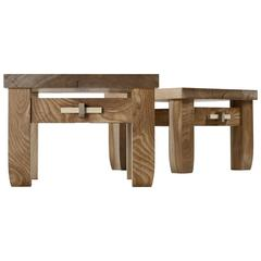 Contemporary Black Birch Hardwood Low Prayer Stool Set Made in Brooklyn in Stock