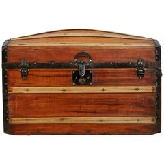 Restored Victorian Dome Top Steamer Trunk, circa 1850
